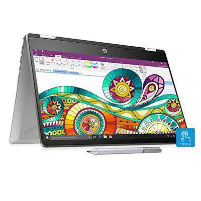 HP Pavilion x360 14dh0047TU 2019 14inch Touchscreen Laptop 8th Gen Core i38145U4GB1TB256GB SSDWindows 10 HomeIntegrated Graphics Natural Silver