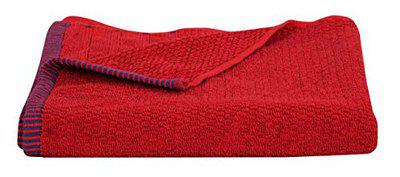 HOMECRUST 500 GSM Large Size Terry Cotton Bath Towels, 140 x 70 cm - Red