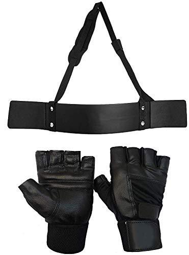 ISF Heavy Duty Arm Blaster with Workout Hand Gloves Combo Item, Gym Gloves, Arm Blaster, Gym Accessories, Gym Equipment, Gym Equipment Spare Parts, Gym Attachment Combo.