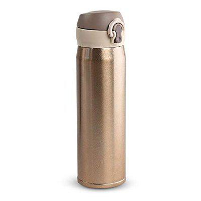INFINITY ELECTRIC Stainless Steel Water Bottle 500 ML HOT and Cold for 8 HRS Travel Sipper Golden