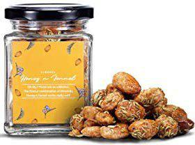 LA CHOCOALLURE Honey and Fennel Roasted Almonds Dry Fruits, 125 gram