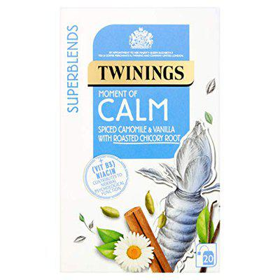 Twinings Superblends Moment of Calm Spiced Camomile & Vanilla with Roasted Chicory Root Tea, 20 Tea Bag, 30g
