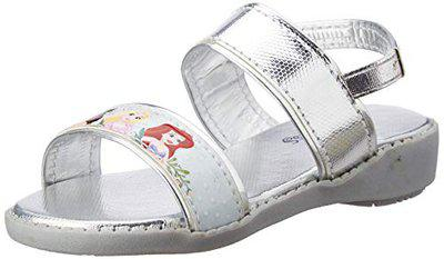 Disney Princess Girl's Fashion Sandals (28 EU) (11 Kids US) (DPPGFS2064_Silver)