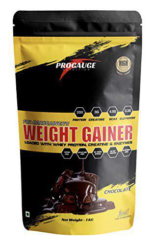 ProGauge Nutrition Weight Gainer with Digestive Enzymes (Chocolate, 1 kg)