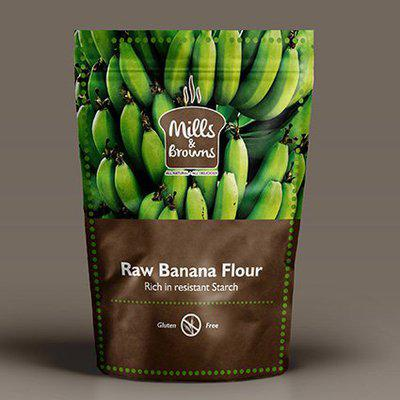 Mills & Browns All Natural and Delicious Gluten-free Baking Powder and Raw Banana Flour Combo Pack