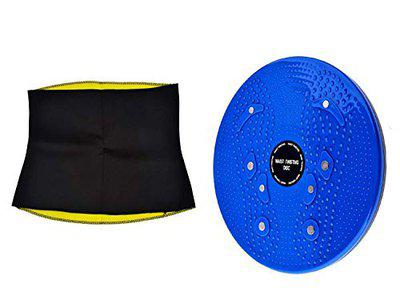 GJSHOP Hot Sweating Body Shapers Belt and Tummy Twister Combo (Multicolour, Free Size)