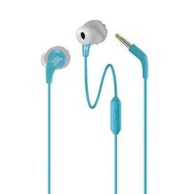 (Renewed) JBL Endurance Run Sweat-Proof Sports in-Ear Headphones with One-Button Remote and Microphone (Teal)