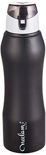 Neelam Symbo Stainless Steel Fridge Bottle Sipper Cap Black Color 750 ml