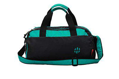Harissons Aqua 25L Waterproof Gym Bag with Shoe Compartment, Duffel Bag for Travel, Gym, Camping, Swimming Gear (Polyester, Turquoise Colour)