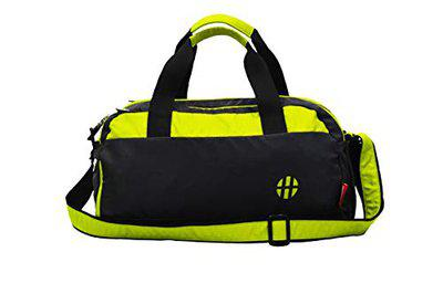 Harissons Aqua 25L Waterproof Gym Bag with Shoe Compartment, Duffel Bag for Travel, Gym, Camping, Swimming Gear (Polyester, Yellow Colour)