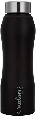 Neelam Gymbo Stainless Steel Fridge Bottle Black 750 ml