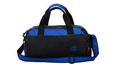 Harissons Aqua 25L Waterproof Gym Bag with Shoe Compartment, Duffel Bag for Travel, Gym, Camping, Swimming Gear (Polyester, Blue Colour)