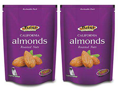 Tulsi California Almonds Roasted Nuts Lightly Salted 400g (200g x 2)