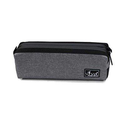 Viva Utility Pouch - Square Reverse Zip (UT - 1002) Multipurpose Travel Pouch Toiletry Bag/Shaving Pouch/Cosmetic Pouch/Pencil Cases Polyester Fabric - Water Repellent (Grey)
