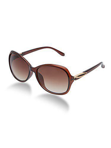 Vast UV Protected Oversized Unisex Sunglasses (9029) (BROWN)