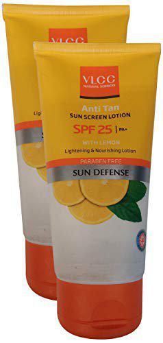 VLCC Sun Screen Lotion SPF 25 - Anti Tan, 150ml (Buy 1 Get 1, 2 Pieces) Promo Pack