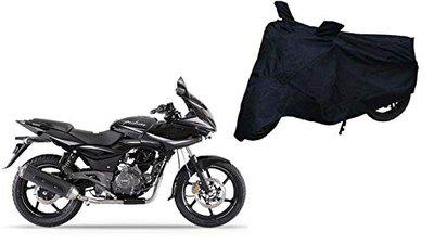 Sheen Universal Black Bike Cover for Pulsar 220 DTS-i (Dust Resistant, Sunlight Protection)