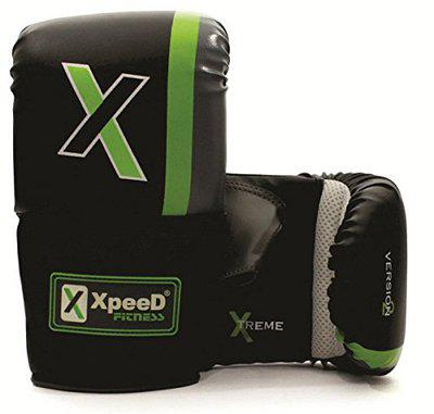 XpeeD Boxing Bag Gloves PVC Full Hand Protector Pair for Boxing MMA Kickboxing Heavy Punch Practice Senior Boys & Adult