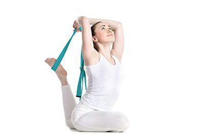 serveuttam Durable Cotton Yoga Strap with Adjustable D-Ring for Stretching and Physical Therapy