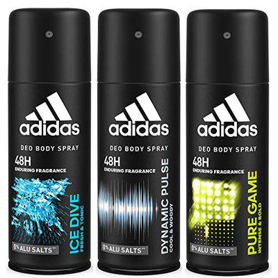 Adidas Deodorant Body Spray Combo, 150 ml (Pack of 3)