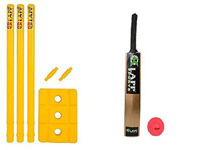 KLAPP Cricket KIT Combo(Wicket Set & Popular Cricket BAT with Wind Ball) Size 3