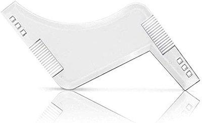 AASA Beard Comb and Styling Shaping Template For Men And Boys Transparent 20 Grams Pack of 1 (Z-Shape Beard Comb Transparent)