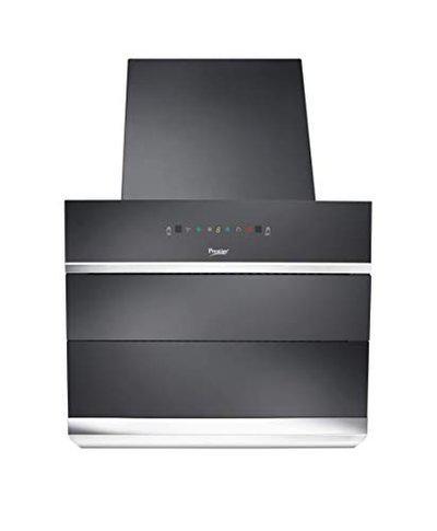 Prestige 60 cm 1100 m HR Auto-Clean Angular Kitchen Chimney AKH 600 MSG 2 Baffle Filters Touch Control Black