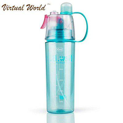 VIRTUAL WORLD Spray Water Bottle 600 ML Sports Spray Water Bottle Straw Outdoor Bicycle Cycling Sports Gym, Outdoor Sports, Summer Bottles (Multicolor)
