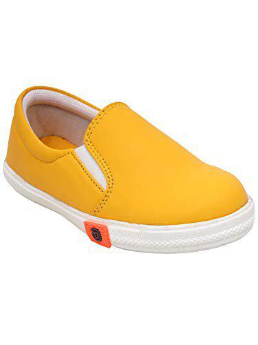 Dchica Girls Slip on Loafers(Yellow)