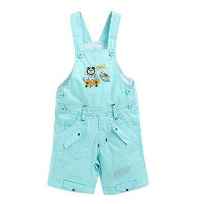 FirstClap Cotton Knee Length Dungaree for Boys & Girls|Dress for Boys|Jumpsuit for Kids|Unisex Sky Blue