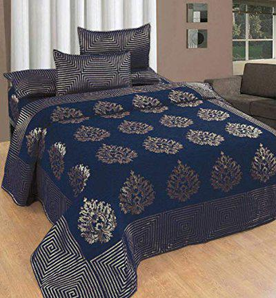 Fresh From Loom Chenille 500 TC Bedsheet (Blue