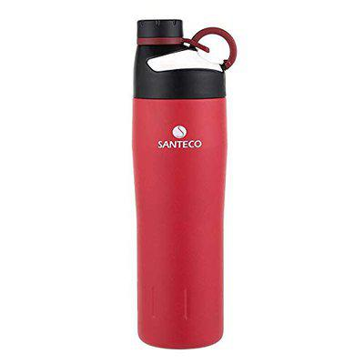 Santeco by Haers Oural Series Vacuum Insulated Sports Bottle Stainless Steel Outdoor Flask Durable BPA Free Water Bottle 590 ml - Red