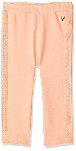 Allen Solly Baby Girl's Chino Trousers (AKIGLG518035_Peach_18-24 Months)