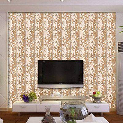 Jaamso Royals Wooden Flower Pattern - Stone Peel and Stick Wallpaper - Self Adhesive Wallpaper - Easily Removable Wallpaper - Use as Wall Paper, Contact Paper, or Shelf Paper