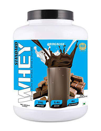 ProGauge Nutrition Standard Whey Protein with Digestive Enzymes (Rich Chocolate, 2 KG)