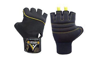 Victory Neo- 01 Skin Fit Gym & Fitness Glove (Yellow)