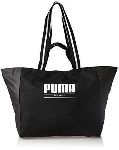 Puma Women Solid Polyester - Tote Bag Black