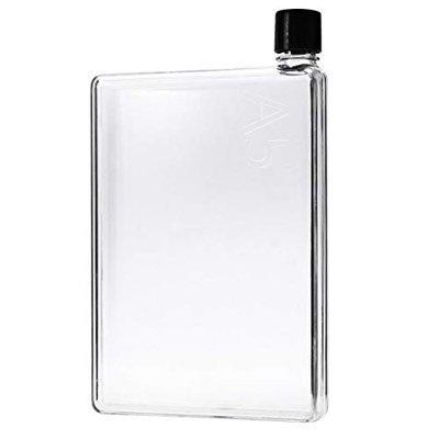 NABHU A5 Size Memo Bottle/Notebook Style Flat And Ultra Slim Portable Bottle (420 Ml) (Transaprent)