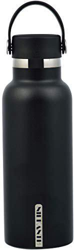 HARI - Modern Ascent Water Bottle - Vacuum Insulated, Double Wall, 18/8 Stainless Steel Powder Coated 500ML (Black) Made in India