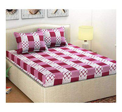 Homestar Microfiber 1 Double Bedsheet and 2 Pillow Covers