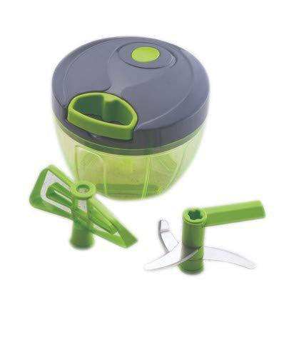 Bright Multipurpose Quick Cutter/Chopper- for Fruits, Vegetables, Spices, Nuts & Sauces (Green)