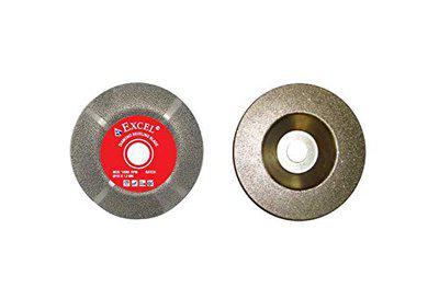 Excel Impex Combo of Diamond Cup Wheel and Glass Bevelling Blade for Grinding, Moulding and Bevelling Glass.