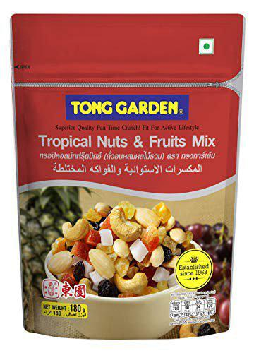 Tong Garden Imported - Tropical Nuts and Fruits Combo, 360 Gm - ( 180 Gm X 2 )
