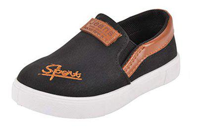 Yellow Bee Loafers for Boys,Black, 8.5C, 3-3.5 Years