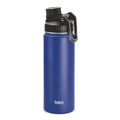 Treo by Milton Go-Active Vacuum Insulated Water Bottle, 600 ml, Blue