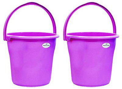 Princeware New Duro Unbreakable Bucket Having Capacity of 13 Ltrs Each in Set of Two Available in Pink Colour