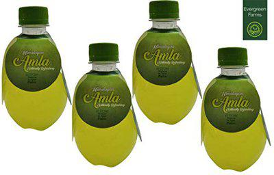 Evergreen Farms Natural Refreshing Himalayan Amla Juice (Health Drink with The Goodness of Natural Ayurvedic Botanicals)Pack of 4(250ml Each-1 Litre Total)