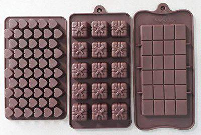 MASOOM NX Bakeware Silicon Set of 3 Chocolate Mould 3 Assorted Mould Combo (45 48 49)