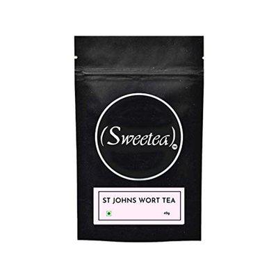 Sweetea St John's Wort Tea 40gm   Tea for Stress Relief   Herbal Tea for Anxiety and Depression