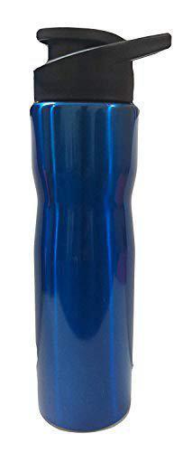 Asian Plastowares Stainless Steel Water Bottle Style Vacuum Flask (750ml, Blue)